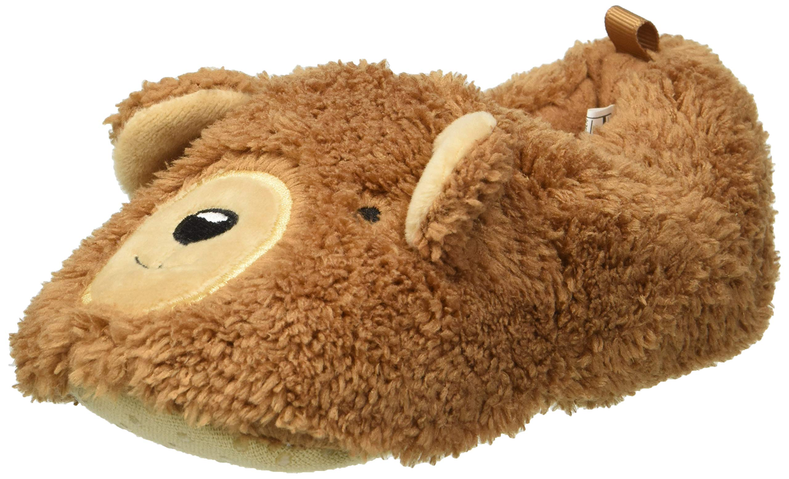 Carter's Boys' Brody2-S Bear Slipper, Tan, 7/8 M US Toddler