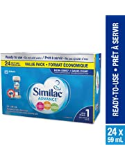 Similac Advance Step 1 Non-GMO Baby Formula, Ready to Use, 24 x 59 mL, 0+ Months.