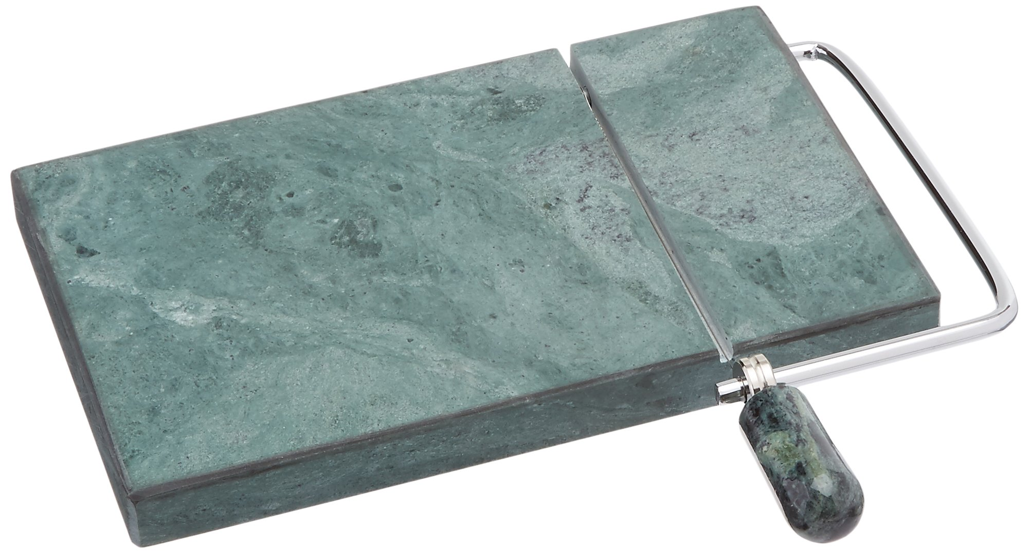 Creative Home Genuine Marble Stone 5 by 8'' Cheese Slicer, Cutter, Green
