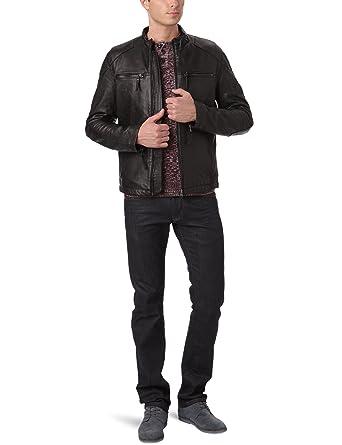 Veste en cuir pour homme, marque Wrangler
