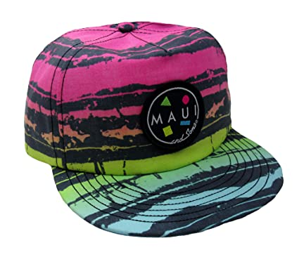 492518884c2555 Maui and Sons Men's Salty Flip Up Brim Snapback Hat (Pink, One Size ...
