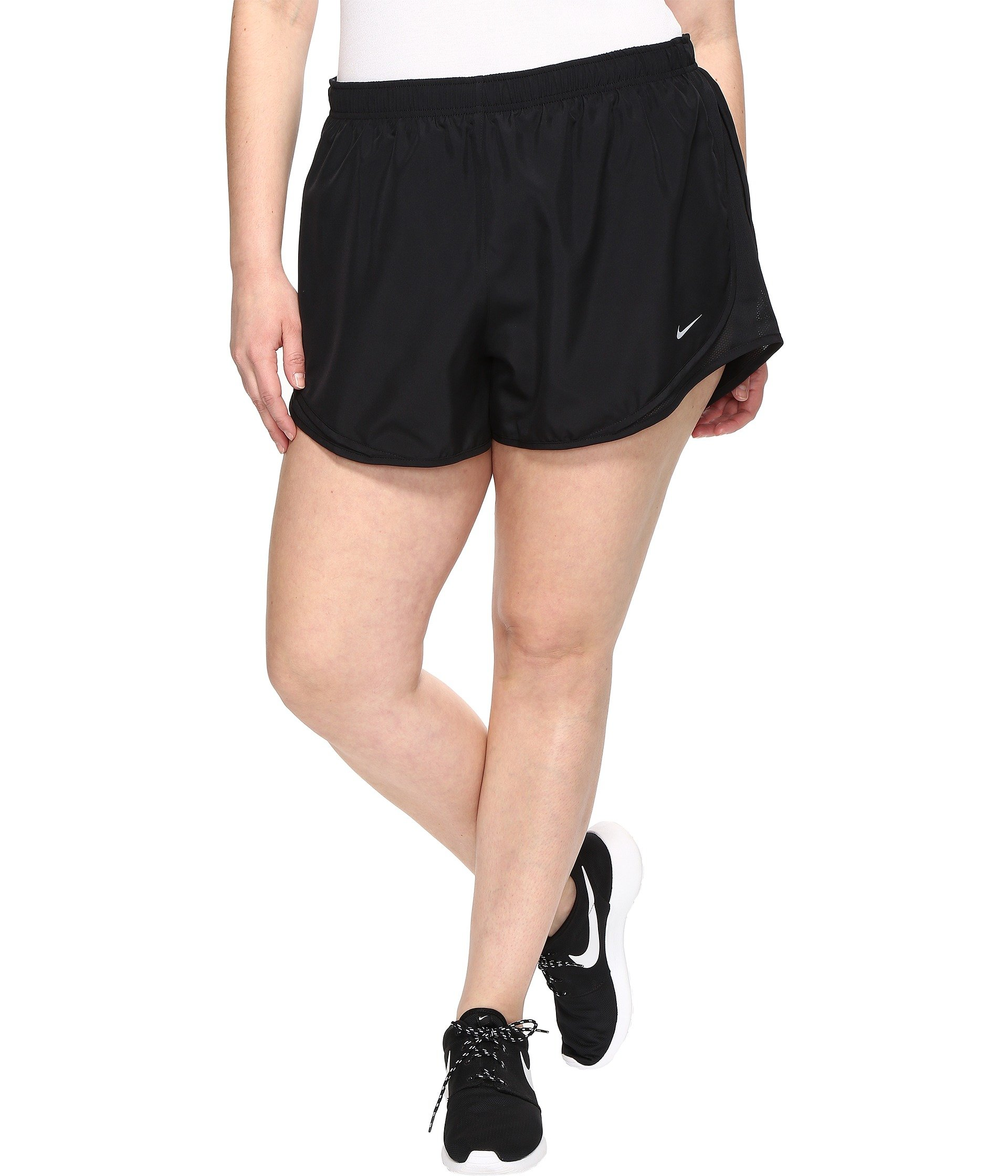 Nike Dry Tempo 3 Running Short Size 1X-3X Black/Black/Black/Wolf Grey Women's Shorts by Nike