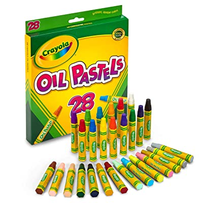 Crayola Oil Pastels, School Supplies, Kids Indoor Activities At Home, 28 Assorted Colors: Toys & Games
