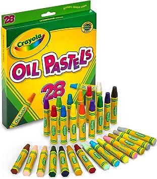 Crayola Oil Pastels, School Supplies, Kids Indoor Activities At Home, 28 Assorted Colors