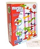 KiumiToys スロープトイ ビーズコースター スロープ ルーピング おもちゃ 子供 積み木 くみくみスロープ くるくる ラトルタワー 知育玩具 Marble Run 80