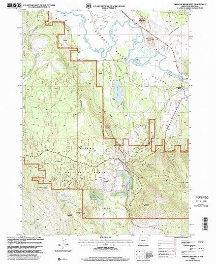 Amazon Com Yellowmaps Sprague River West Or Topo Map 1 24000