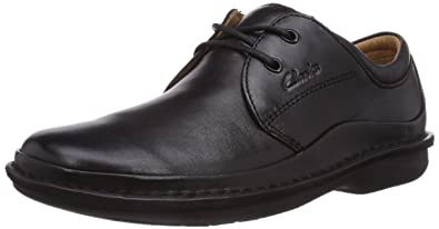 Clarks Sentry Cry Black Leather 203236078080, Men's Lace-Up Shoes - Black, 8
