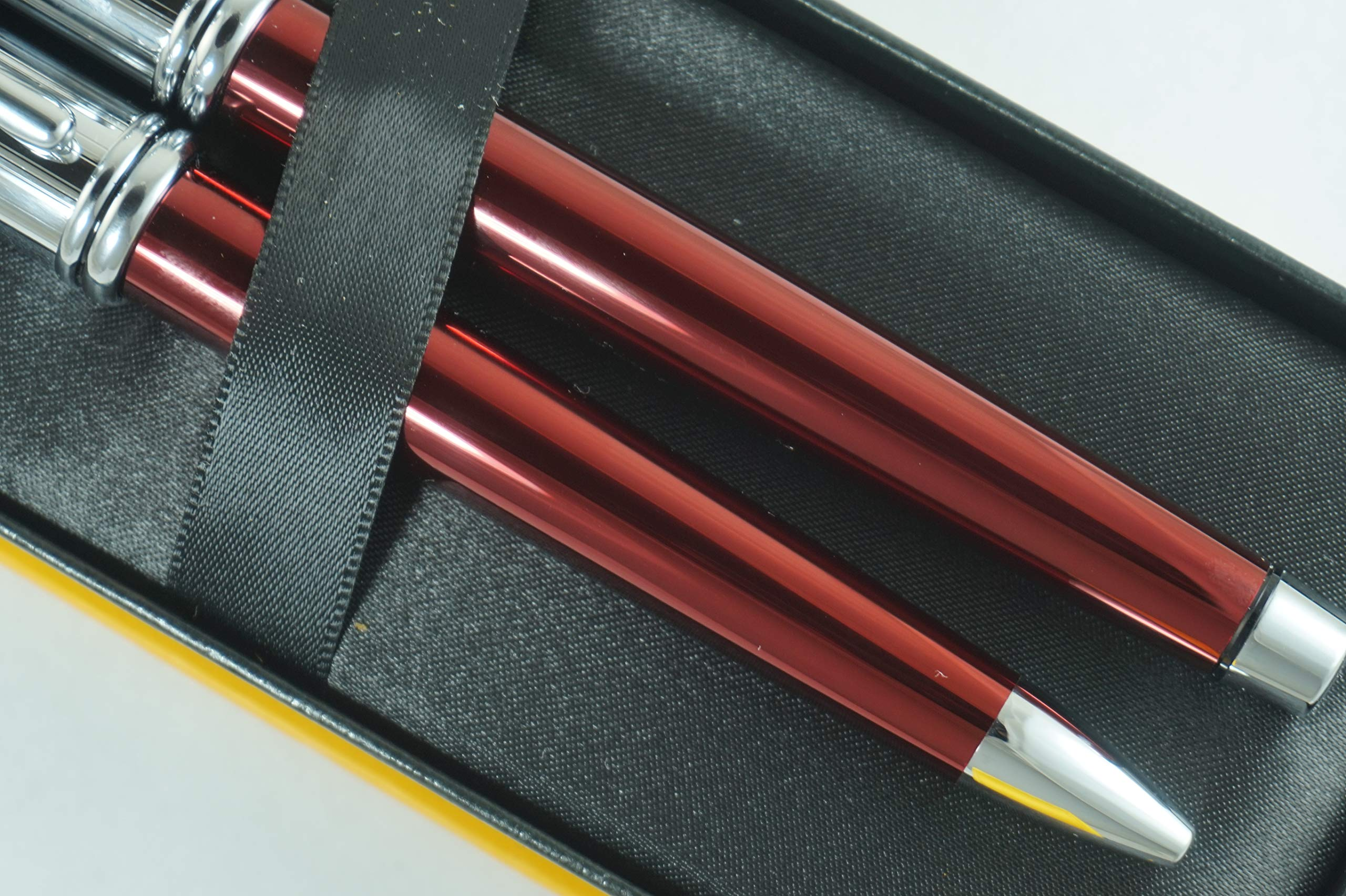 Cross Townsend Limited Edition Series Metallic Ruby Red Selectip Gel Ink Rollerball Pen and Ballpoint Pen Set Rare Combo of Cross Pen Sets by A.T. Cross (Image #2)