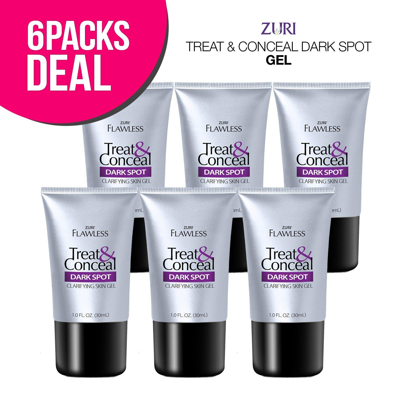Zuri Flawless Treat & Conceal Dark Spot Skin Clarifying Skin Gel 1 oz. (Pack of 6)