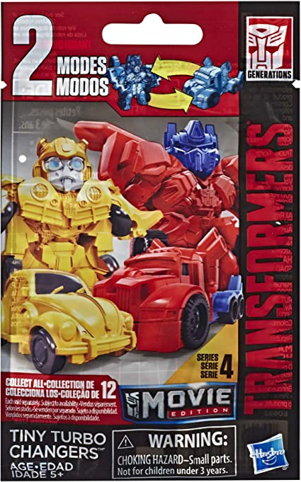 NEW Transformers Tiny Turbo Changers Movie Series 4 Bind Bag Lot of 10 Packs