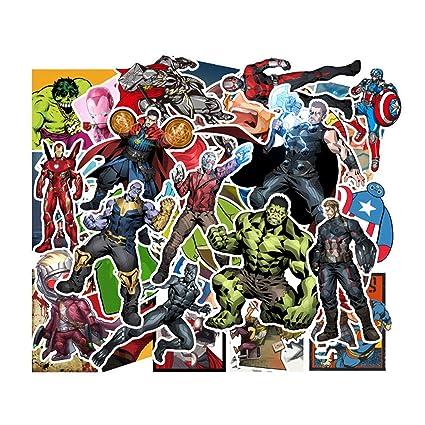 Eposeedor 50 Pegatinas de Superheroe, Graffiti Stickers en Vinilo Coche, Pegatinas Moto, Skateboard, Portátil Ordenador, Habitación, Bicicleta, ...