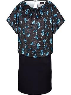 5b4f6ef3704d MIAMODA Damen Kleid mit Blumendruck und Doppeloptik Pflegeleicht