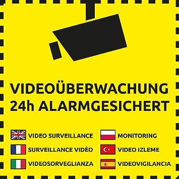 10 Videouberwachung Aufkleber Videouberwachung 10 Stuck 105 X
