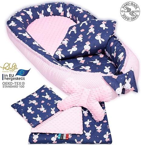 Baby Nest Mattress Blanket Cushion Neck Pillow 100/% Cotton Swallows Jukki /® Newborn Pillow Set for Babies 0 to 8 Months Handmade 50 x 90