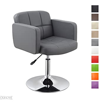 Clubsessel grau  Clubsessel Sessel Kunstleder Grau Esszimmerstuhl Lounge Sessel ...