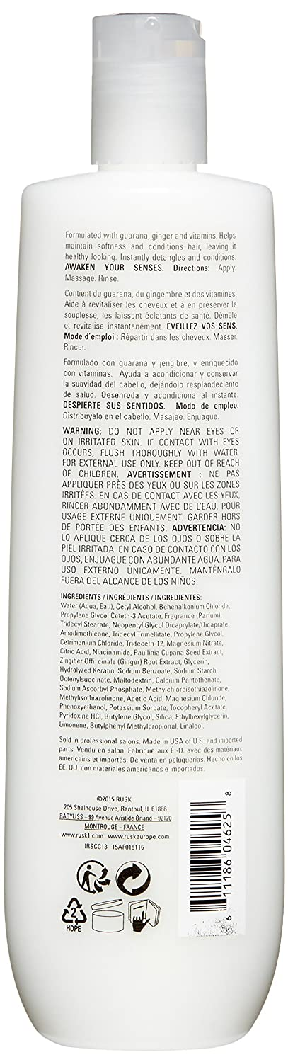 Amazon.com: RUSK Sensories Calm Guarana and Ginger Nourishing Conditioner, 13.5 Fl. oz.: Luxury Beauty