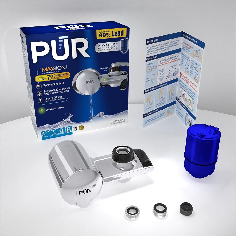 PUR PFM100B Black Horizontal Faucet Mount with 1 Basic Filter