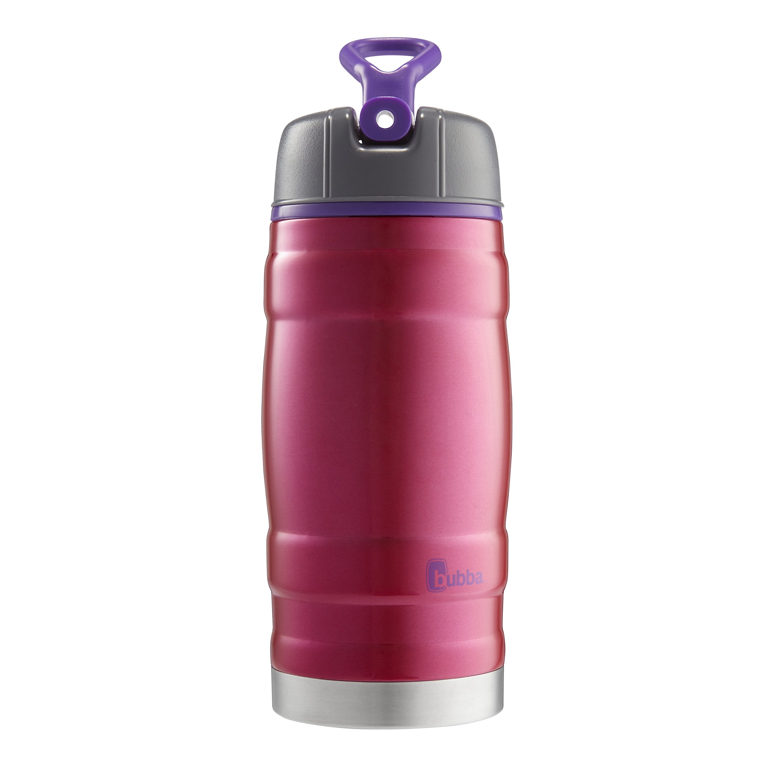 Bubba HERO Kids Sport Vacuum-Insulated Stainless Steel Water Bottle, 12 oz, Pink