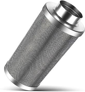 Flexzion Filtro de carbono para ventilación hidropónica, Purificador de aire con carbón activado, Pre-filtro para ventilador, planta de interior, cuarto de cultivo e invernadero (4 pulg./ 10 cm): Amazon.es: Bricolaje y herramientas