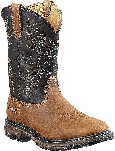 Ariat Men's Workhog Wide Square-Toe H2O- best cowboy boots