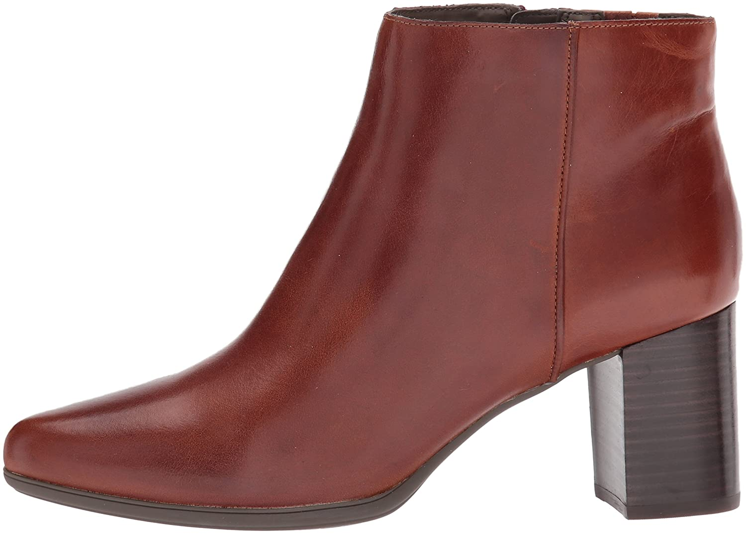 Rockport Women's Total Motion Lynix Bootie Boot B0725R1648 9 B(M) US|Saddle