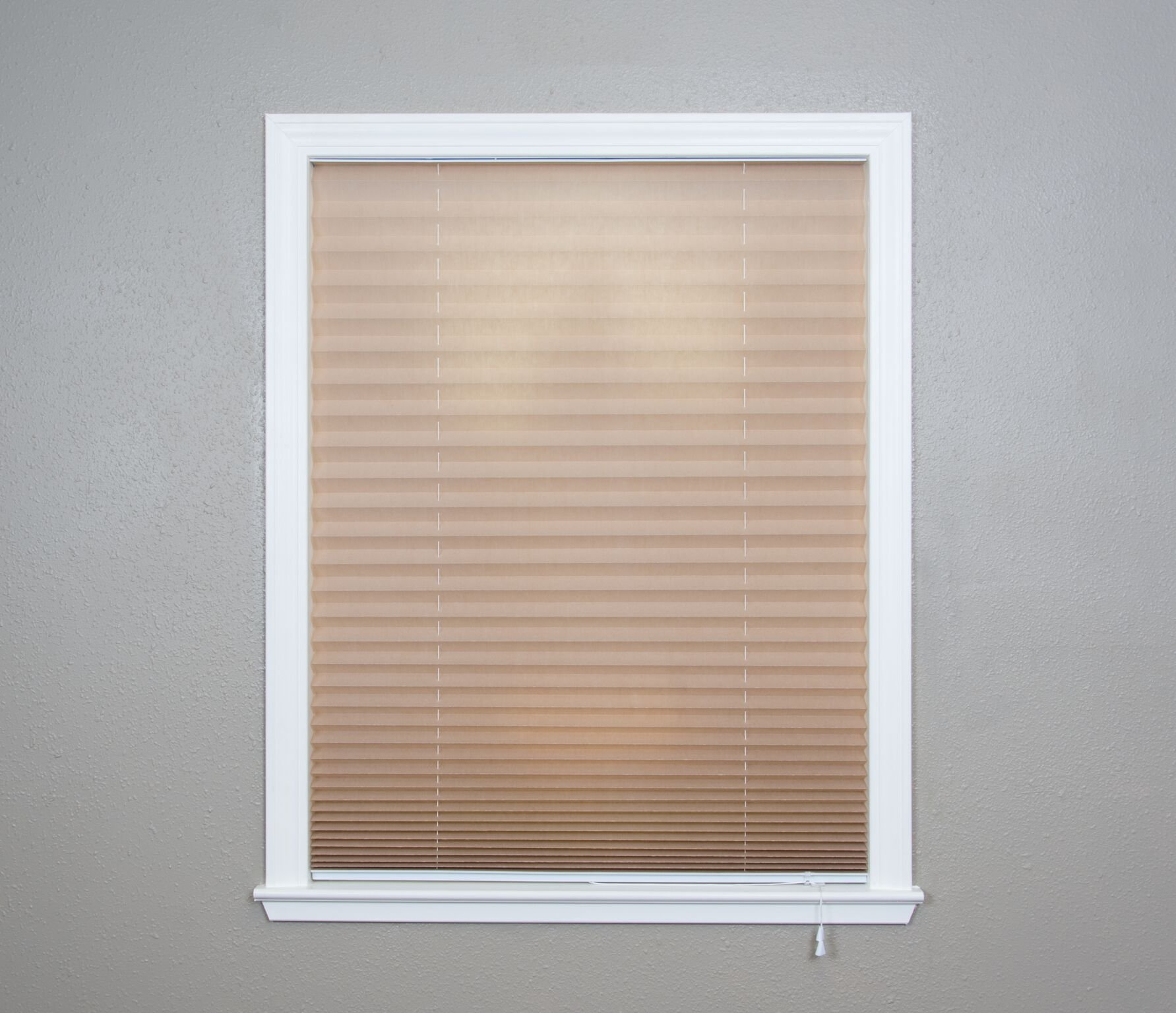 Original Corded Lift Light Filtering Pleated Fabric Shade Natural, 36''x 72''