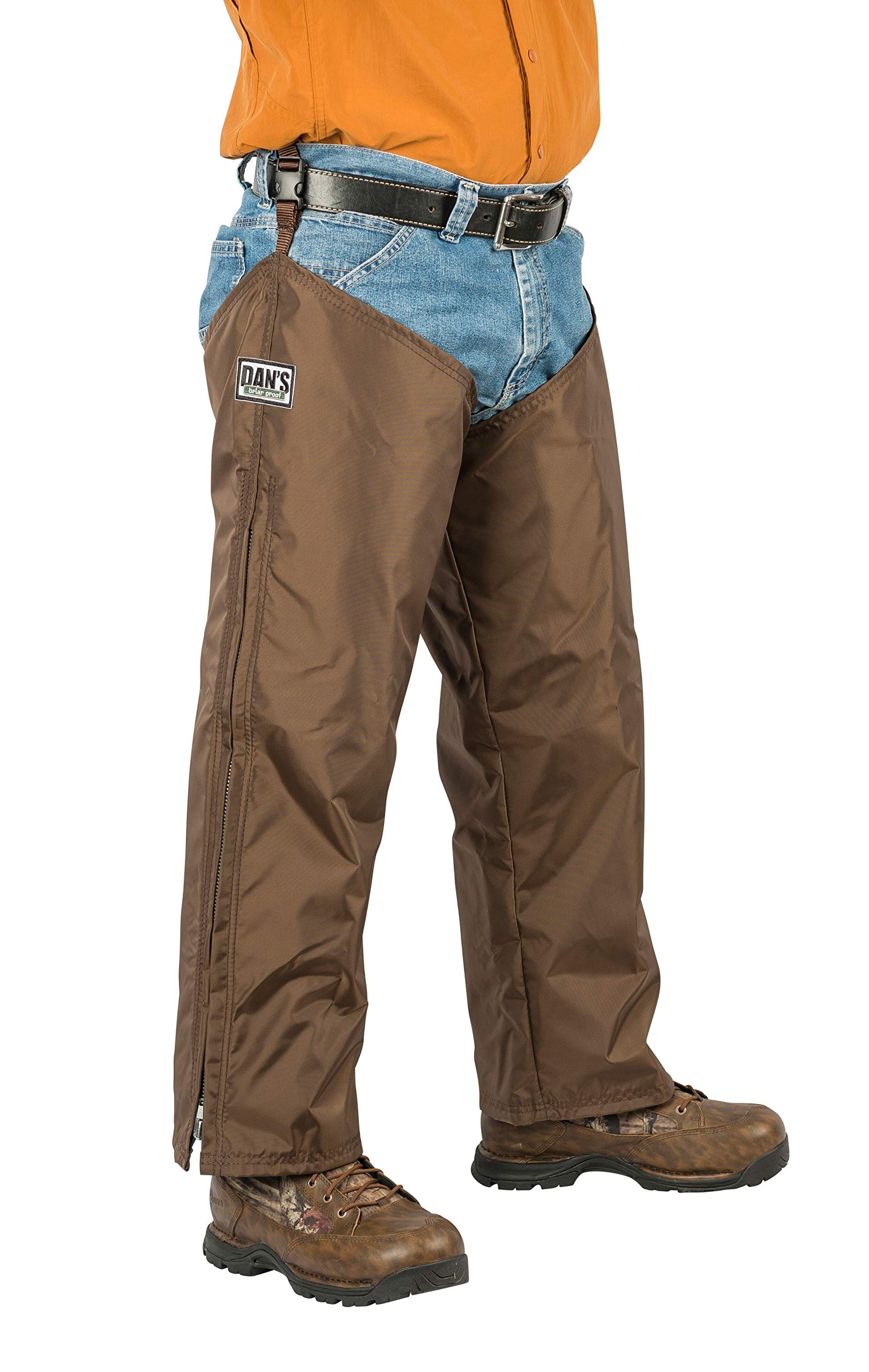 High-N-Dry Briarproof, and Waterproof Protector Chaps, Made in U.S.A. (Brown, Thigh XXL-32/Inseam 32) by Dans Hunting Gear