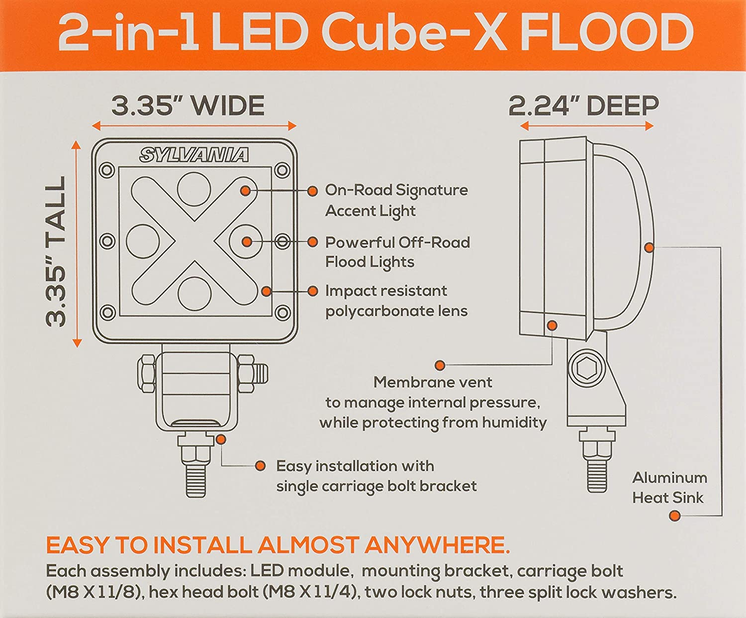 Sylvania Led Cube X Off Road Flood Light Contains 1 Floodlight Wiring Diagram Automotive