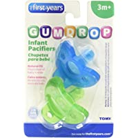 Gumdrops Infant Pacifier for Boys, 2 Pack, Blue/Green,3 Months Plus