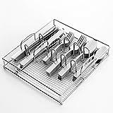 Gibson Home Griffen - Juego de cubiertos de acero inoxidable (61 piezas, con caja de alambre)