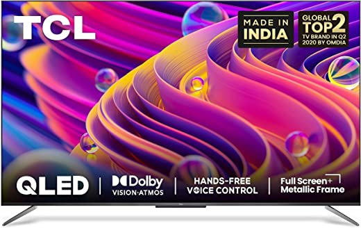 50 inches QLED TV TCL 4K Ultra HD Certified Android Smart QLED TV 50C715 with Voice Control (2020 Model)