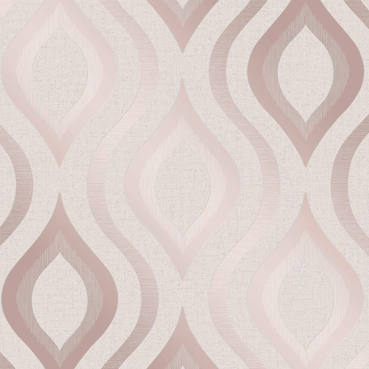 Quartz Geometric Wallpaper Rose Gold Fine Decor Fd42206 Amazon Com