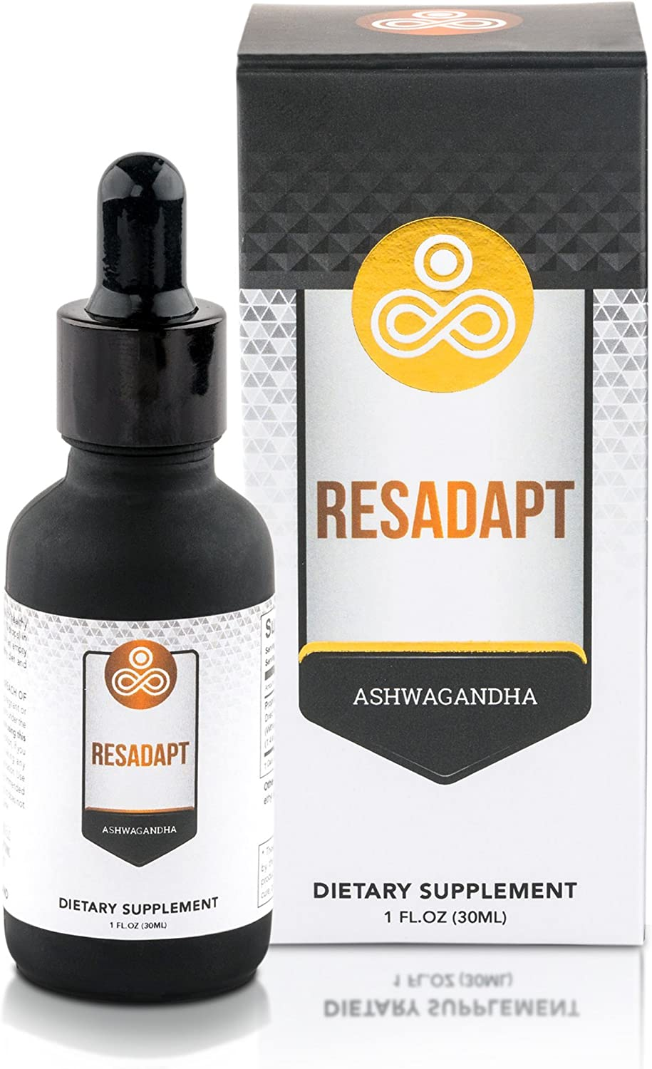 Premium Ashwagandha Supplement Resadapt - Powerful Adaptogenic Herbal Extract - Liquid Drops for Best Absorption - Non-GMO - Vegan - Immune System & Energy Boost - Anti-Anxiety Action: Health & Personal Care