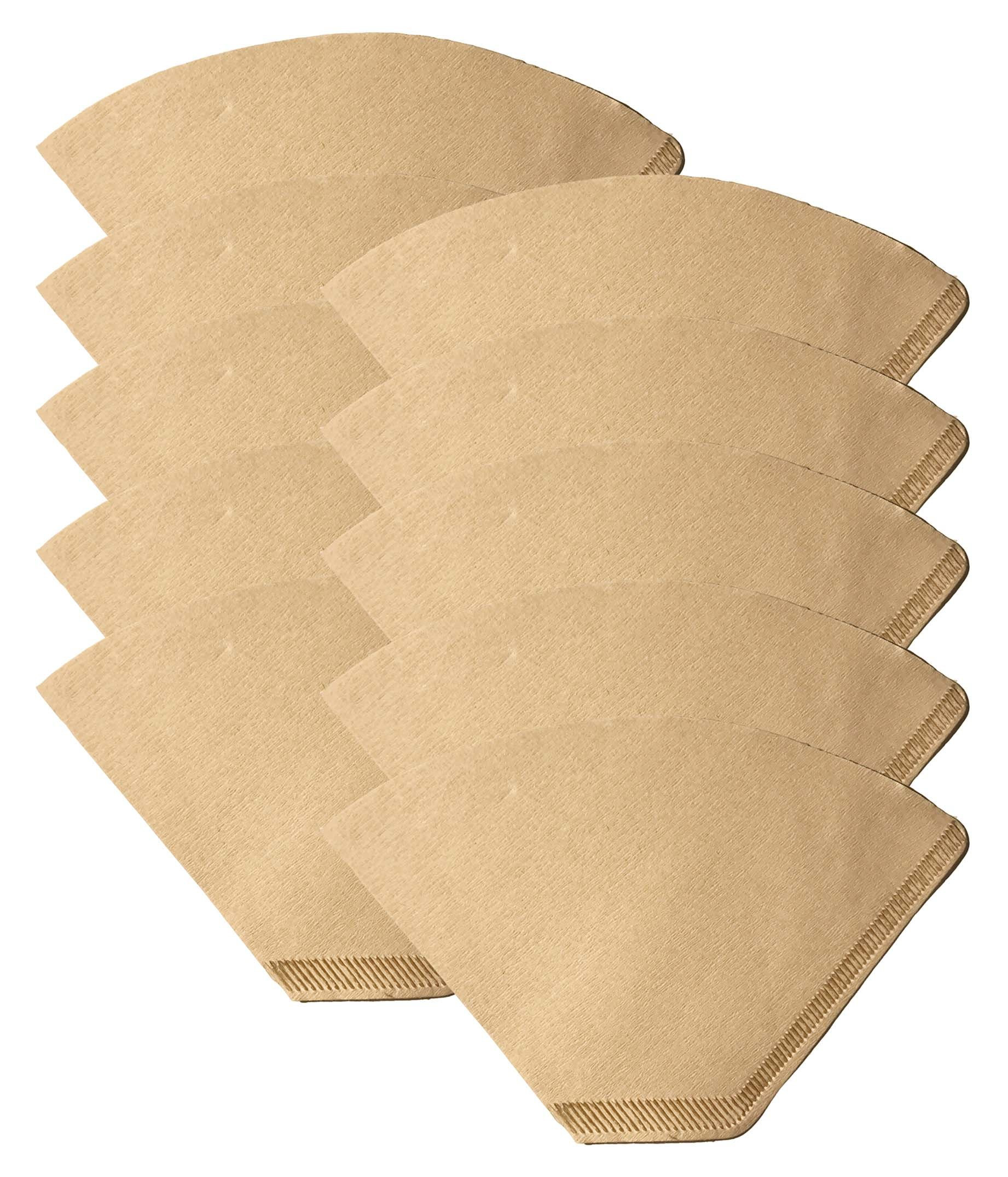 1000 Replacements for #2 Coffee Filters Unbleached, All Natural, Brew Brown Paper Cone, Fits All Coffee Makers With #2 Number 2 Coffee Basket Holder including Melitta, by Think Crucial by Think Crucial