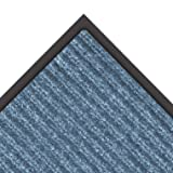 """NoTrax 109 Brush Step Entrance Mat, for Lobbies and Indoor Entranceways, 3' Width x 6' Length x 3/8"""" Thickness, Slate Blue"""