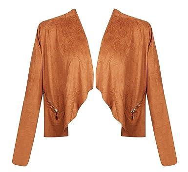 76a38d0c80e French Laundry Plus Size Caramel Vegan Suede Flyaway Jacket at Amazon  Women s Coats Shop