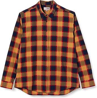Redford Oslo, Camisa Hombre, Multicolor (camel navy), Tamaño ...