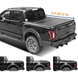 Lyon cover 5.5ft 67.1 inches Hard Tri-Fold Truck pickup Bed for 2015-2021 F150 Tonneau Cover | LED Lamp | 3 Years…