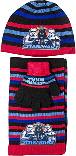 Boys Kids Official Star Wars Stormtrooper Winter Bobble Hat One Size 4-8 Years