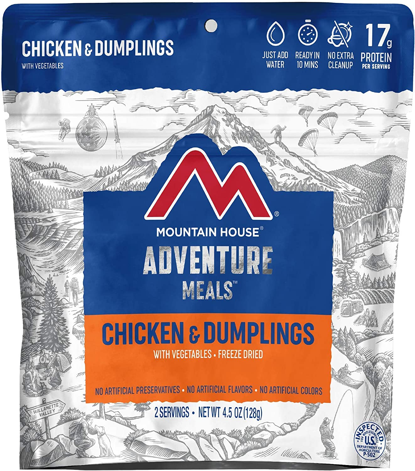 Mountain House Chicken & Dumplings   Freeze Dried Backpacking & Camping Food   Survival & Emergency Food
