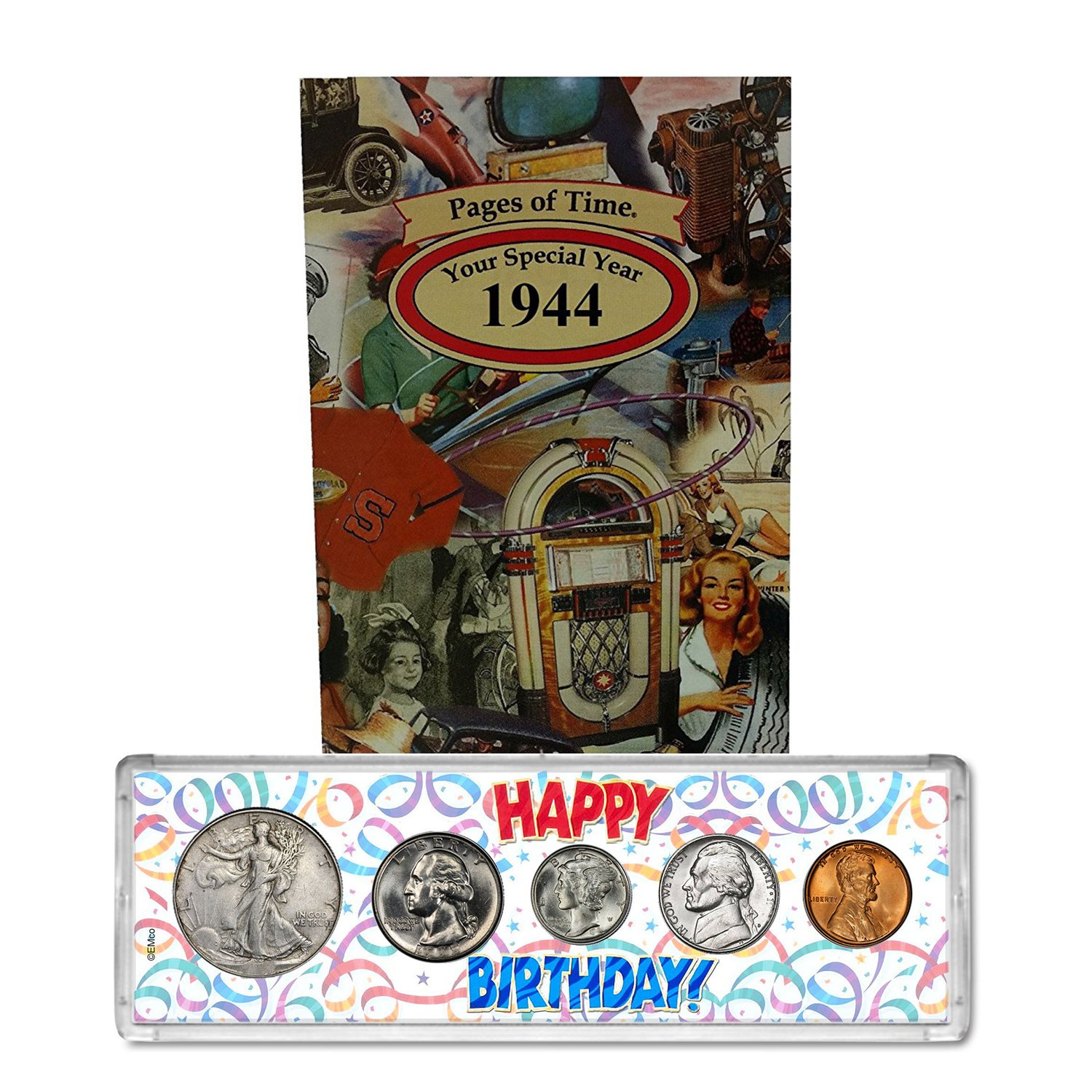 1944 Year Coin Set and Greeting Card : 74th Birthday - Happy Birthday