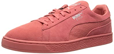 new product 7d3b7 58da6 PUMA Men's Suede Classic Mono Reptile Fashion Sneaker