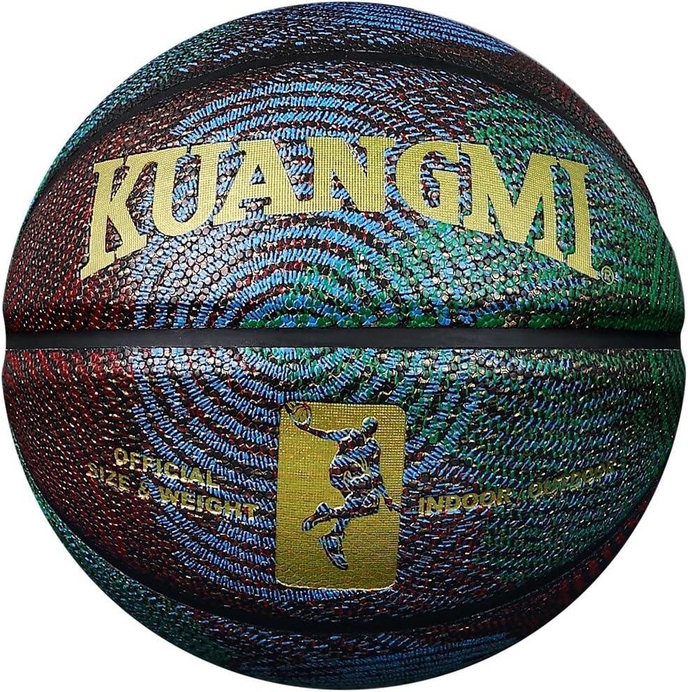 Kuangmi Mode Cool Street Cuir Composite Ballon de Basket Taille 6 7 pour Utilisation int/érieur ext/érieur