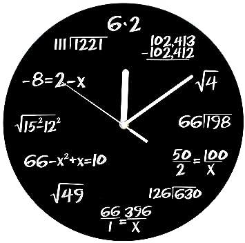 Amazon.com: Decodyne Math Clock - Unique Wall Clock - Each Hour ...