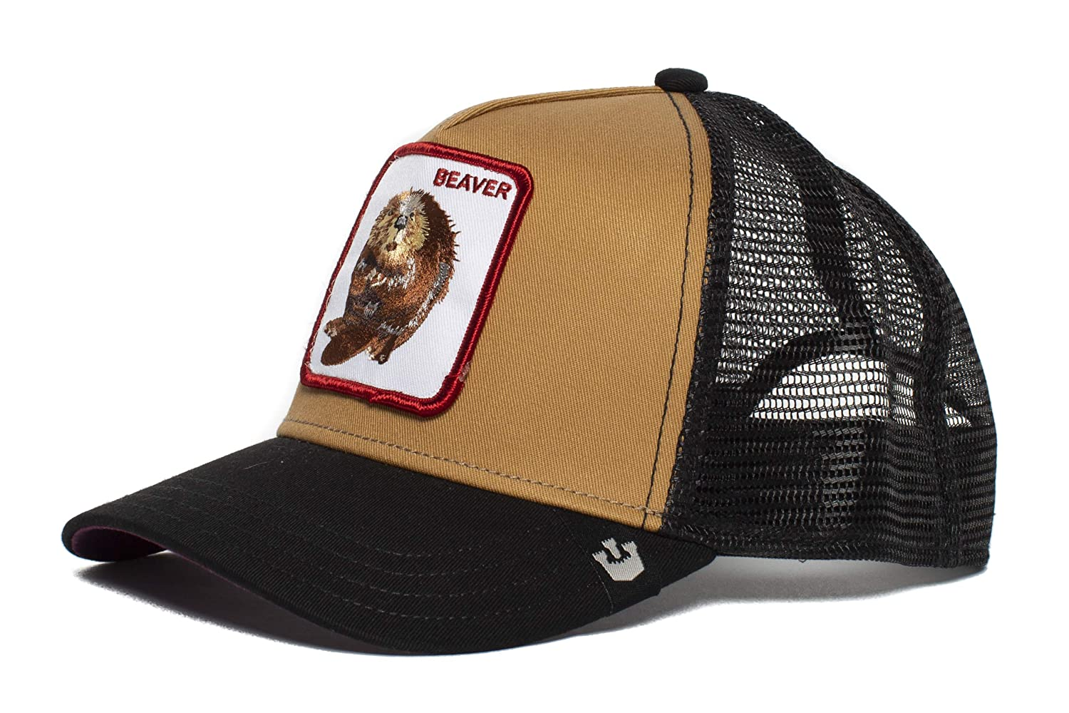 Mens  Two Beavers  Beaver Trucker Snapback Trucker Baseball Hat Brown   Clothing 562ee3a80ae