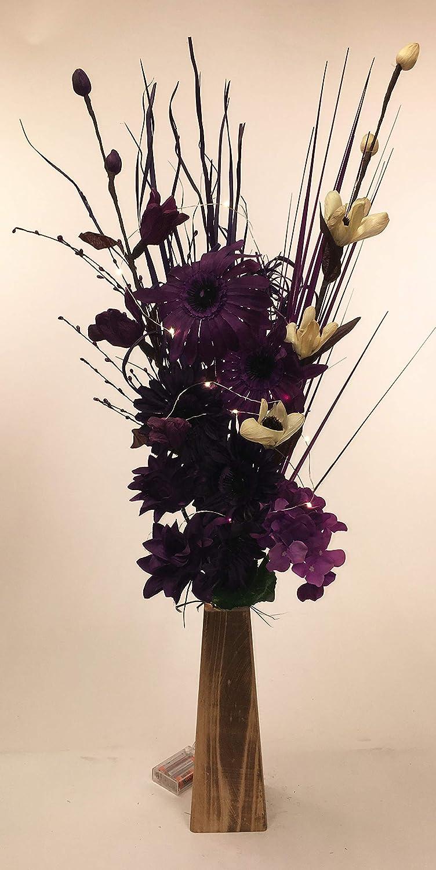 Unique dried artificial flower bouquets 85cm tall with wood vase unique dried artificial flower bouquets 85cm tall with wood vase made in uk izmirmasajfo