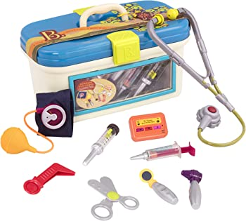 10-Piece B. Toys Dr. Doctor Toy Deluxe Medical Kit for Toddlers