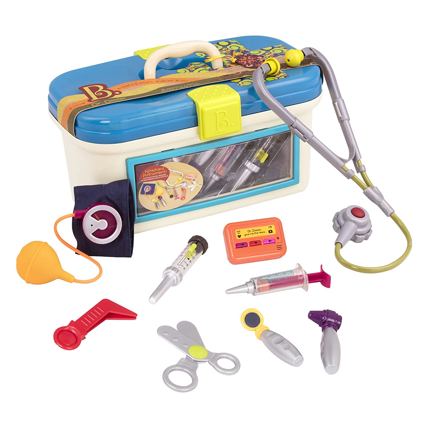 B. toys by Battat - B. Dr. Doctor Toy – Deluxe Medical Kit for Toddlers - Pretend Play Set for Kids (10 pieces) BX1110Z