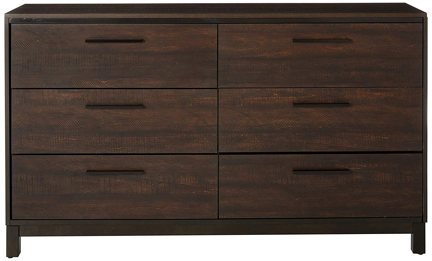 Coaster 204353-CO Edmonton Collection 59 Dresser with Six Dovetail Drawers Metal Pulls and Kenlin Center Glides, Rustic Tobacco Dark Bronze