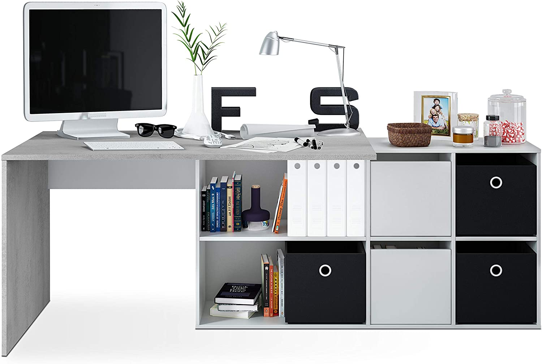Habitdesign - Mesa Escritorio, Mesa despacho Reversible, Estudio ...